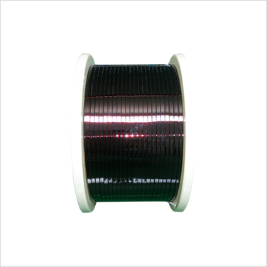 Enamelled flat wire